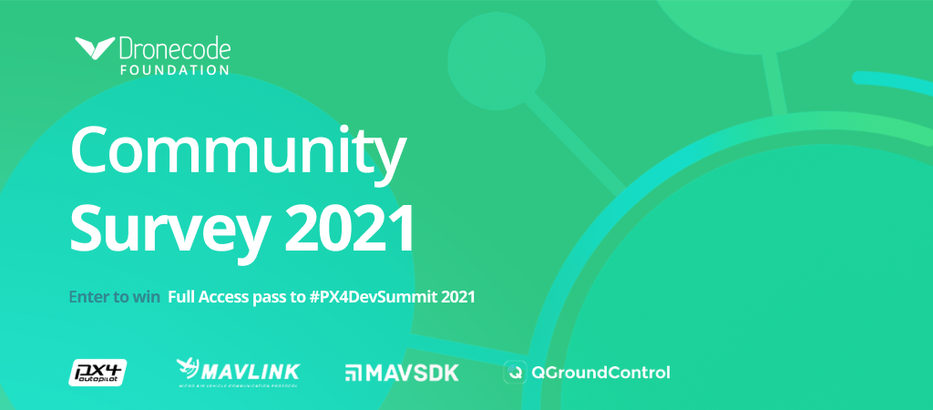 Survey 2021 — State of the Community from the Dronecode Foundation